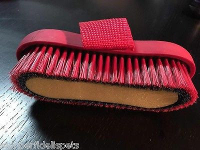 ROMA Two Tone Sponge Brush Horse Grooming Navy/Red