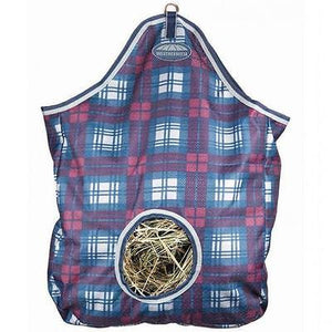 Weatherbeeta Plaid Wine/Navy Hay Bag JUST ARRIVED - NEW SEASON COLOR