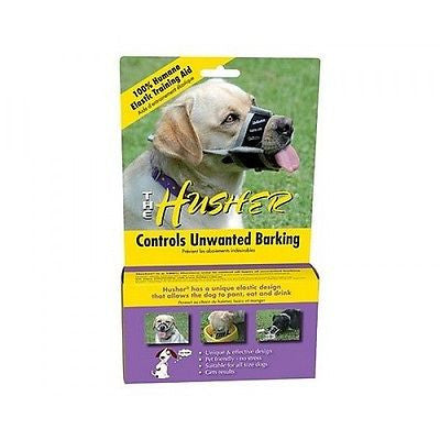 HUSHER MUZZLE Controls Barking Biting Chewing (Elastic) - Size 0