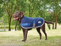 Weatherbeeta Quilted Dog Coat Navy/Grey/White Breathe Easy Machine Wash