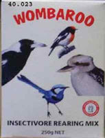 Wombaroo Insectivore Rear Mix 1 kg magpies wrens kingfishers carnivorous birds