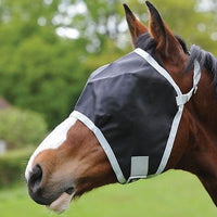 Roma Buzz Away Flymask Fly veil  - Blue/Black - Cob