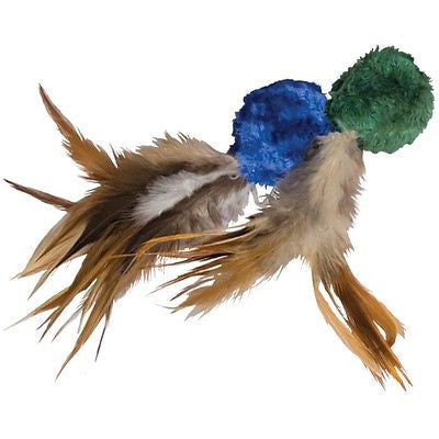 KONG Cat Naturals Crinkle Ball w Feathers and Catnip Cat Toy