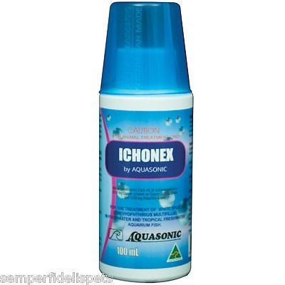 Aquasonic Ichonex - Aquarium & Fish Tank  White Spot Ich Remedy 100ml