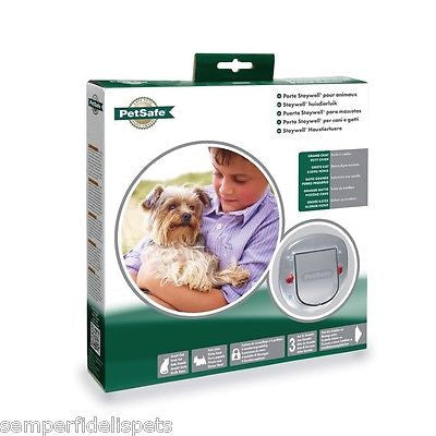 Staywell Petsafe Big Cat / Small Dog Pet Door FROSTED 4 way locking