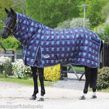 Weatherbeeta Plaid Wine/Navy Channel Quilt 420D Combo Winter Medium RRP $160