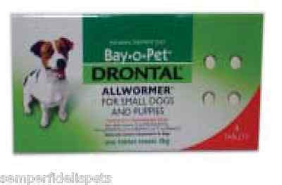 Drontal All Wormer Tablets for Small Dogs and Puppies by Bay O Pet