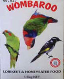 Wombaroo Lorikeet & Honeyeater bird food 1.5 kg powder/liquid nectar