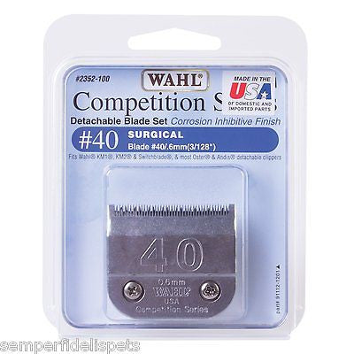 Wahl Competition Series Size #40 Surgical .6mm Dog Clipper Blade 2352-100