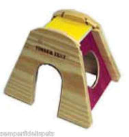 SAM SMALL ANIMAL HIDE-AWAY TENT WOOD LARGE