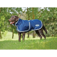 Weatherbeeta Parka 1200D Deluxe Dog Coat Navy/Grey/White