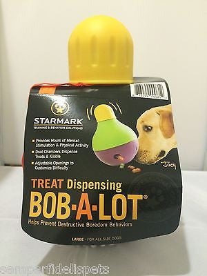 Starmark Bob-A-Lot Interactive Tough Treat Dispensing Toy Large