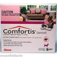 Comfortis For Dogs 2.3-4.5kg Pink 6 Tablets