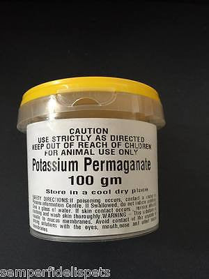 Potassium Permaganate (Condy's Crystals) 100gm for animal treatment only