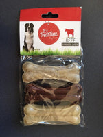 It's Treat Time Beef Rawhide Chew 90mm Pack of 3