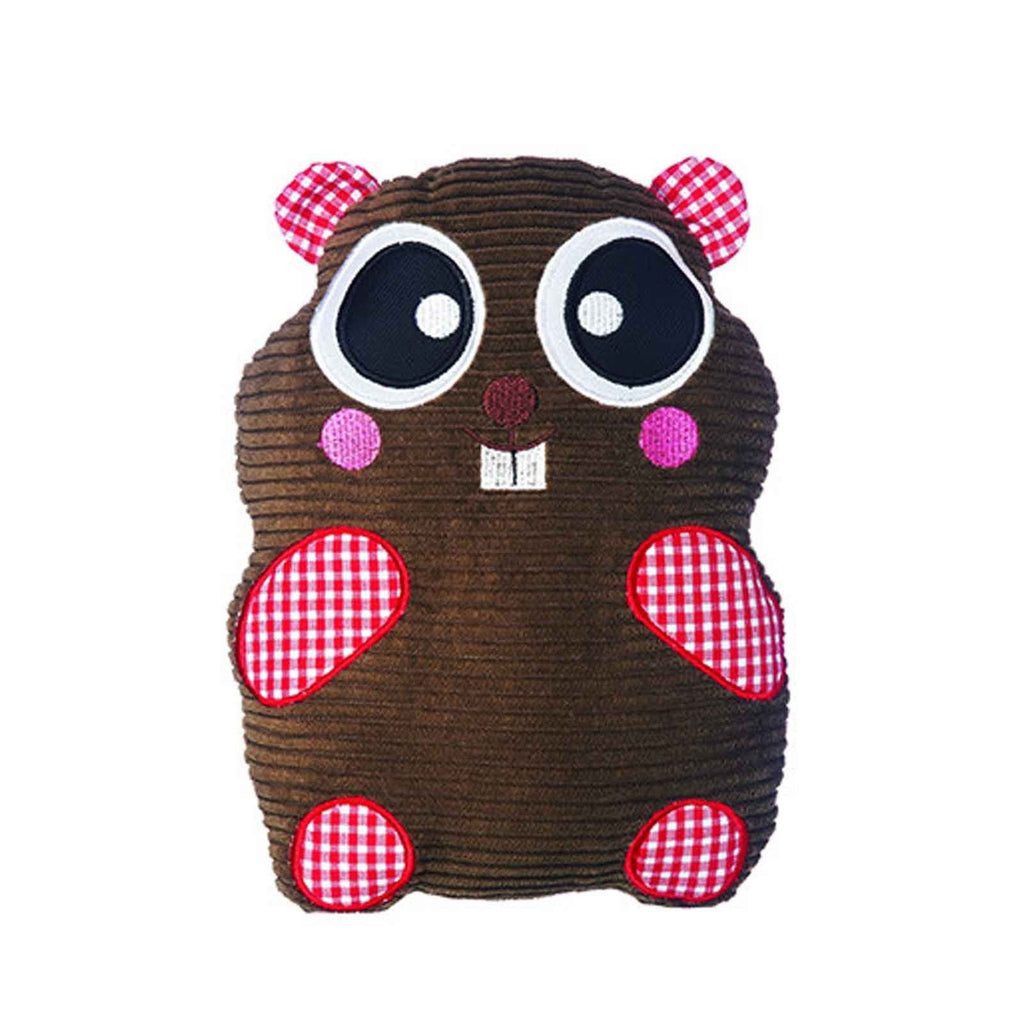 Gummi Pet Patchwork Justin Beaver Mini Dog Toy 17cm x 12cm