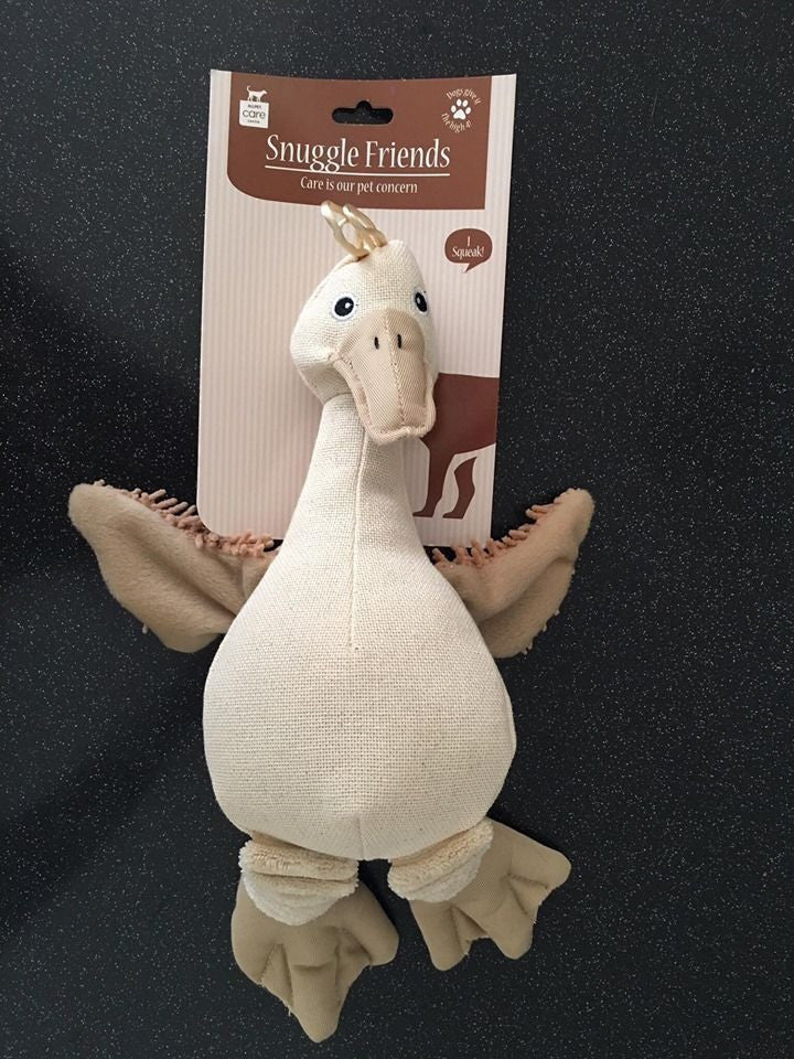 Allpet Snuggle Friends Duck Squeaky Dog Toy