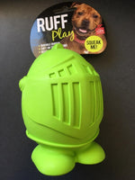Ruff Play Dog Toy Knight Green Large 4.75