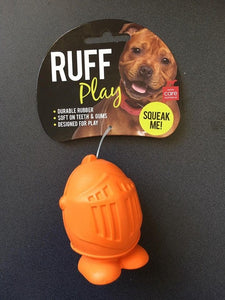 Ruff Play Dog Toy Knight Orange Small 2.625""