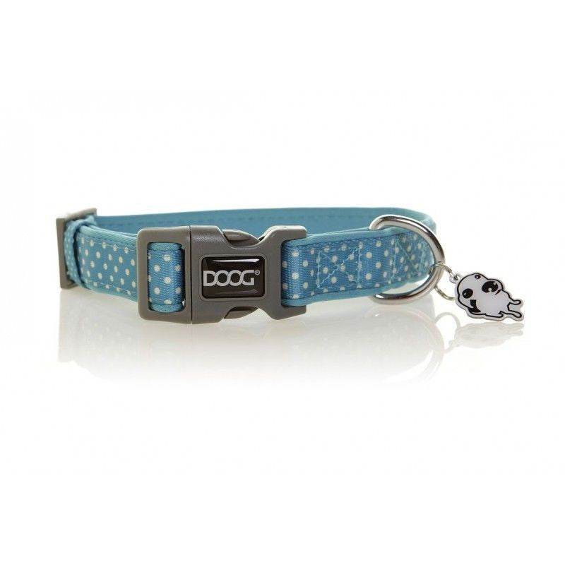 DOOG Snoopy Collar Blue with White Dots Dog Collar
