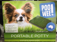 Poo Wee! Synthetic Grass Patch Dog Puppy Toilet Training Aid 64cm x 51cm