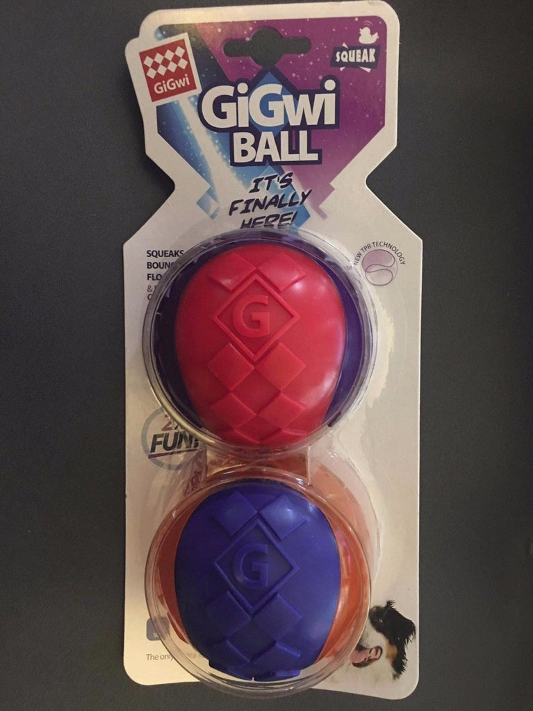 Gigwi Ball Large 2 Pack Dog Toy