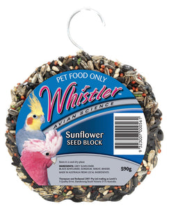 Whistler Sunflower Seed Block 590g for Birds
