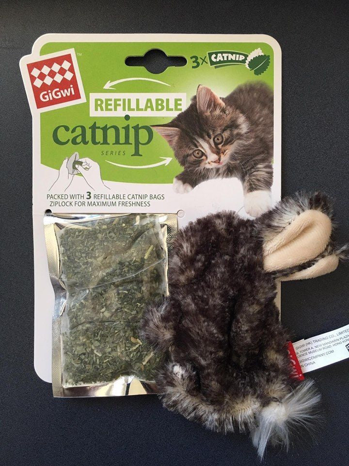 GiGwi Refillable Catnip Rabbit Natural Cat Toy