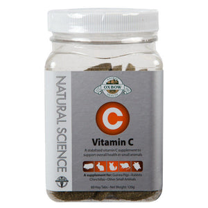 Oxbow Natural Science Vitamin C 60 Chewable Tablets for guinea pigs, rabbits etc