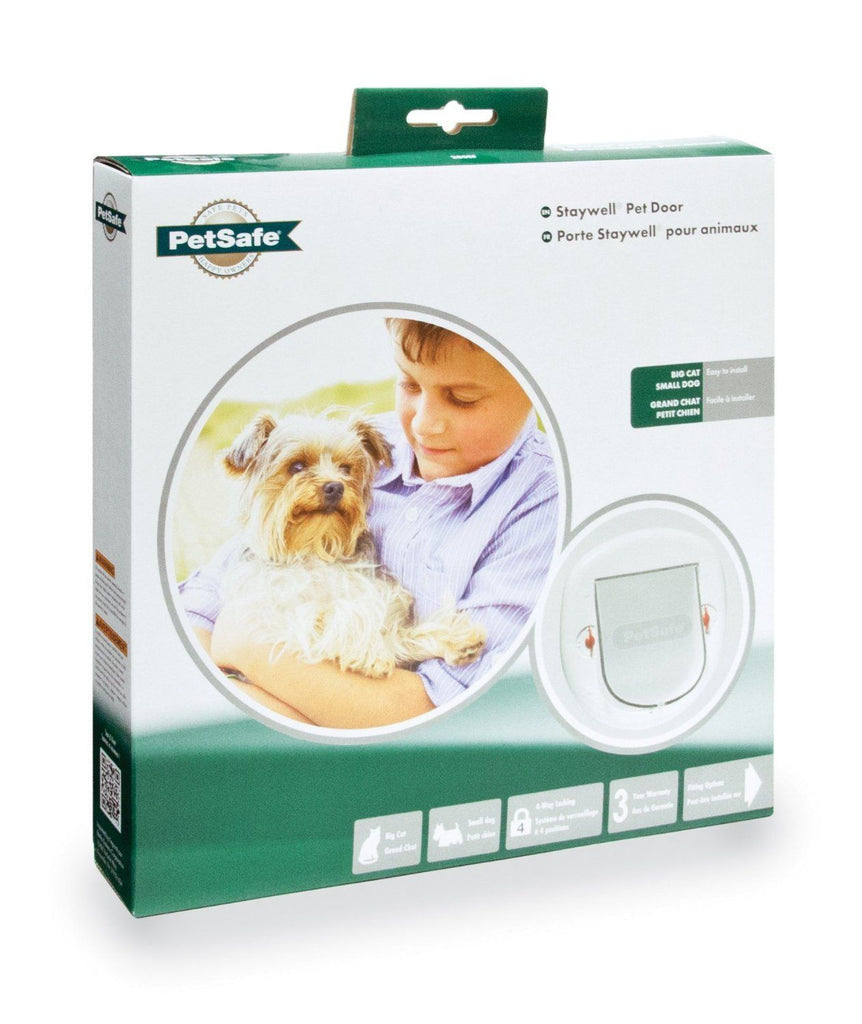 Staywell Petsafe Big Cat / Small Dog Pet Door WHITE 4 way locking