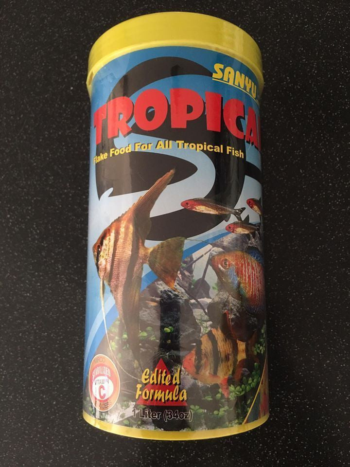 Sanyu Tropical Flake Food for All Tropical Fish 1L