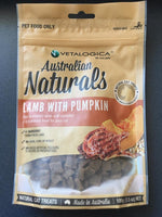 Vetalogica Australian Naturals Lamb with Pumpkin 100g Cat Treats