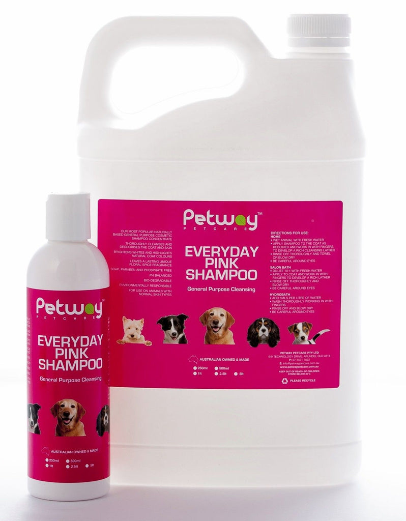 Petway Everyday Pink Shampoo 1L for Dogs & Cats
