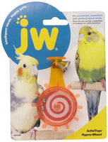 JW Hypno Wheel Bird Toy for Parakeets, Cockatiels and Similarly Sized Birds