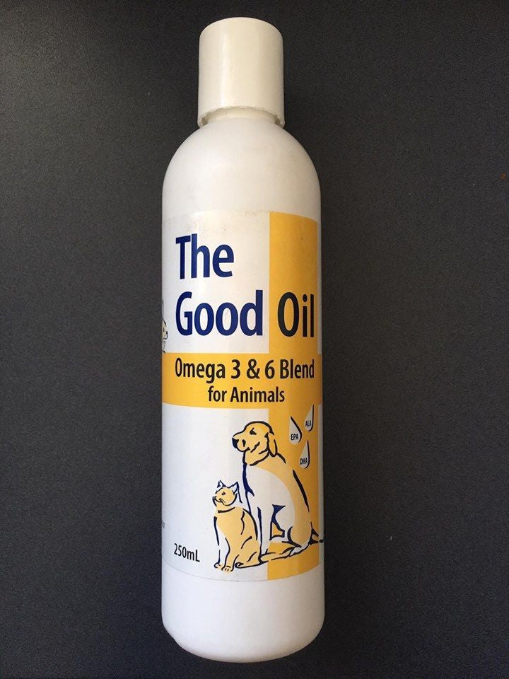 The Good Oil for Animals 250ml, Passwell Omega 3 & 6 Blend