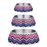 Gummi Pet Brights Bowl Pink/Purple for Dogs & Cats