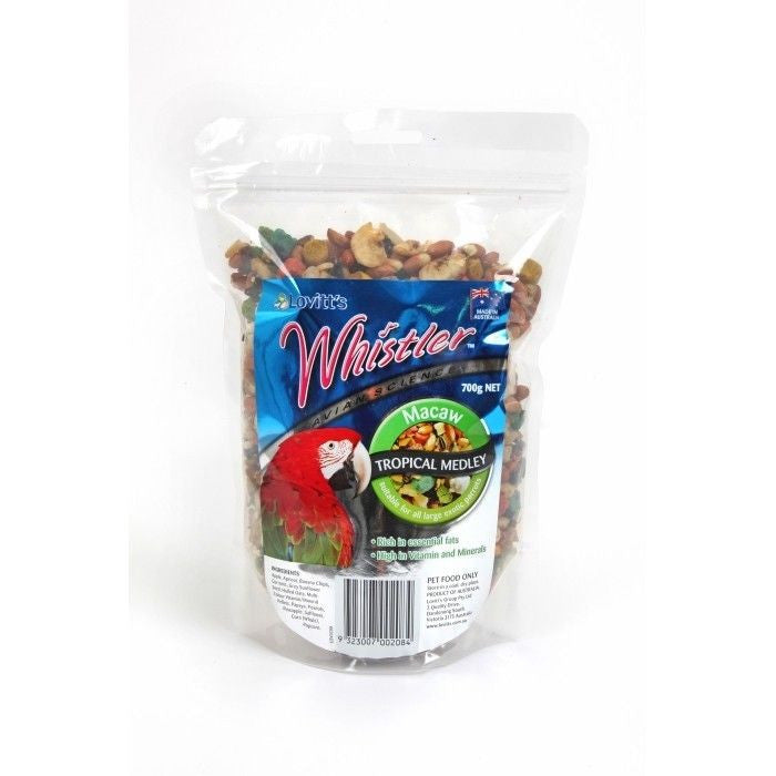 Whistler Macaw Tropical Medley Premium Treat Mix 700g for Birds