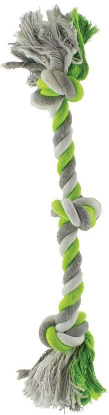 Green Rope with 3 Knots Dog Toy