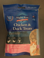 Mighty Raw Chicken & Duck Adult Cat Treats 100g