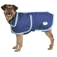 SALE!! Weatherbeeta Landa Deluxe Dog Rug Coat Navy/Silver Waterproof 45cm