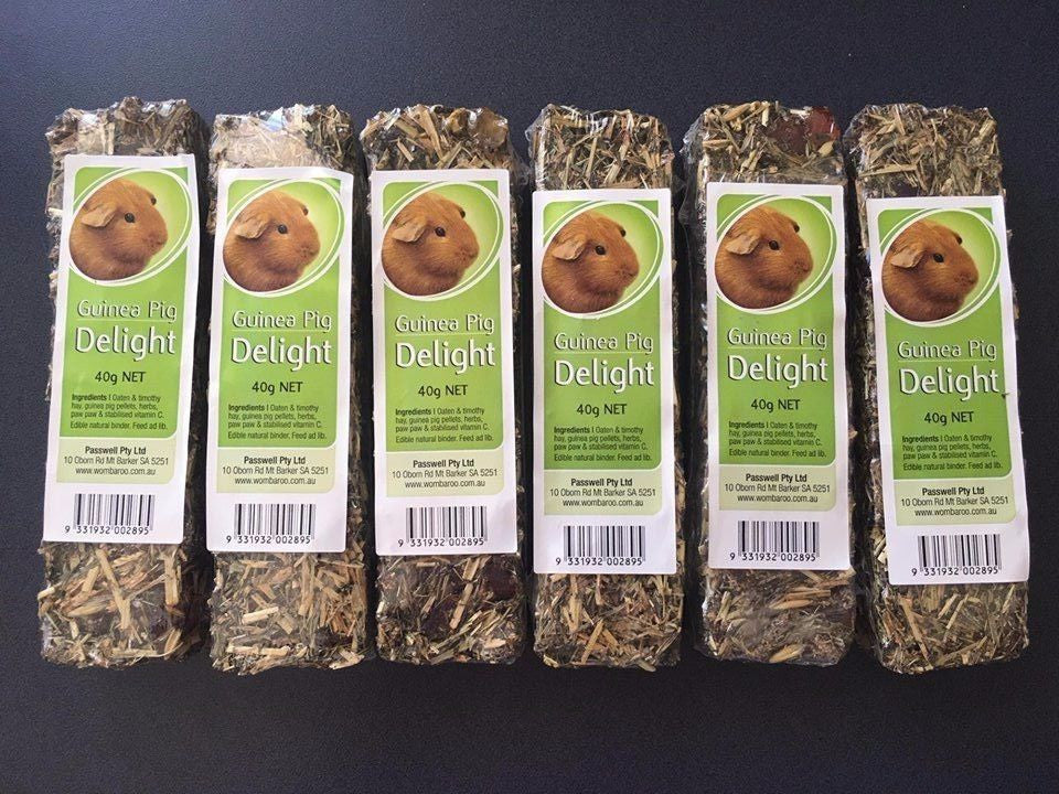 Passwell Guinea Pig Delight 40g NET x 6 (Pack of 6)