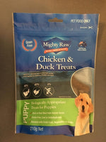 Mighty Raw Chicken & Duck Puppy Treats 210g