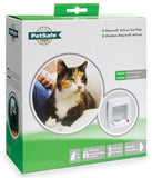 Staywell Petsafe Deluxe Manual 4-Way Locking Cat Door - WHITE