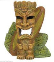 AQUARIUM FISH TANK ORNAMENT TIKI WITH SURFBOARD