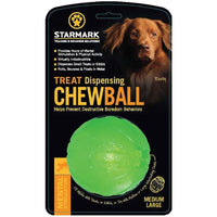 Starmark Treat Dispensing Dog Chew ball Medium/Large 8.5cm