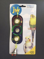 JW Triple Mirror Bird Toy for Parakeets, Cockatiels & Similar Sized Birds