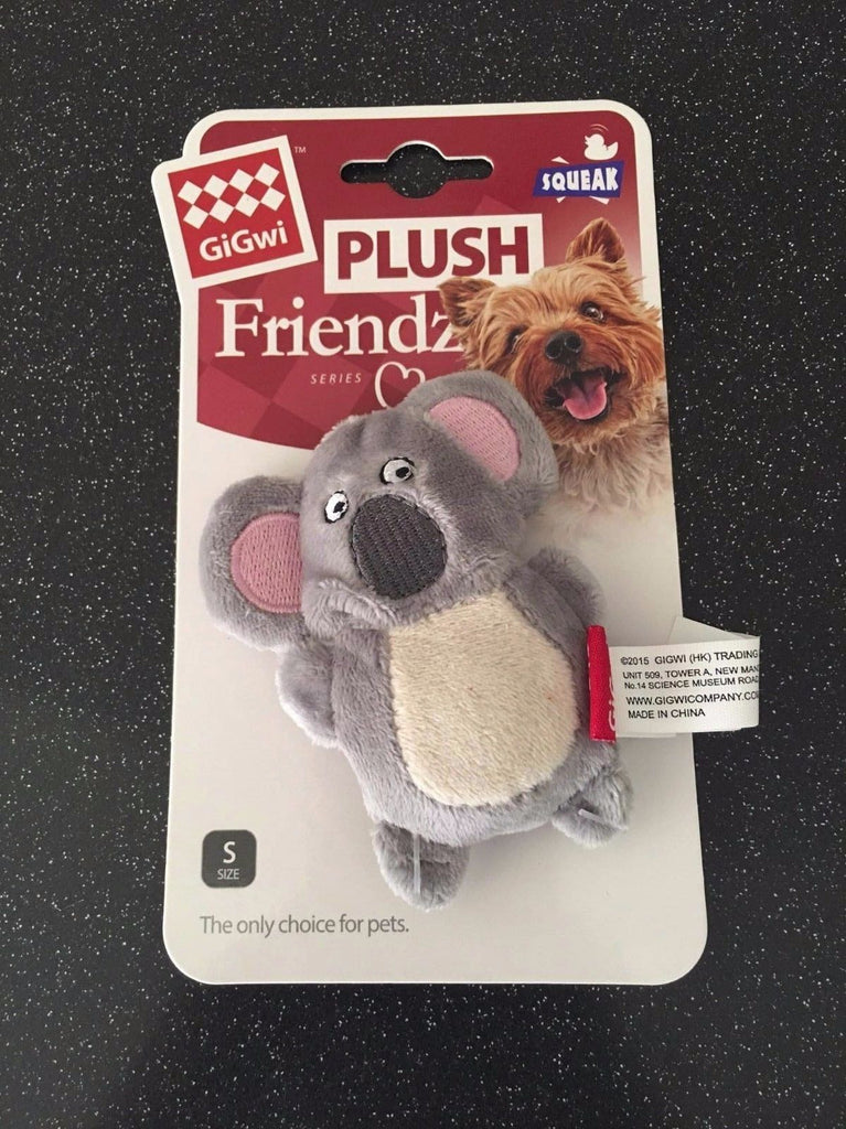 GiGwi Plush Koala Squeaker Dog Toy