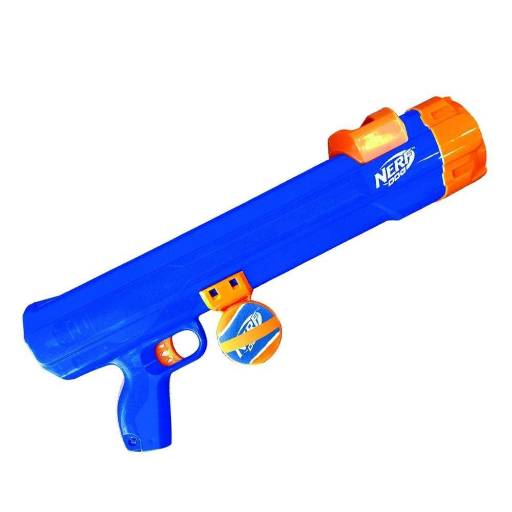 Nerf Dog Tennis Ball Blaster Exerciser for Dogs with hands free ball pickup
