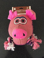 Allpet Snuggle Friends Pig Squeaky Dog Toy