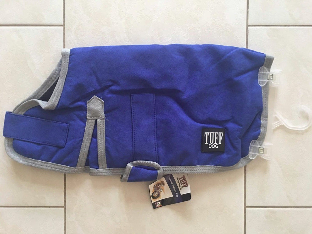 Tuff Dog Indoor Rug Blue Suede Dog Rug / Coat